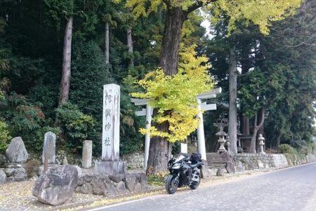 06.イチョウの木とCBRの写真