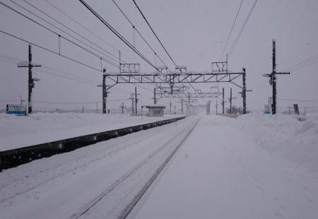 11.積雪時期のマキノ駅の写真