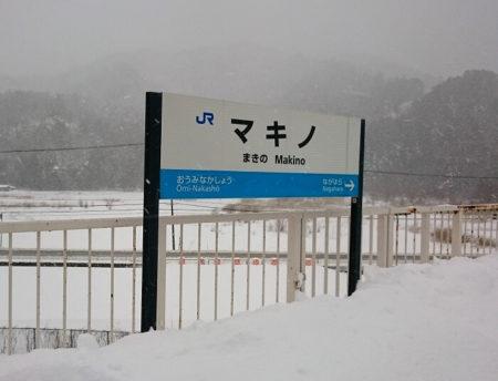 03.マキノ駅看板の写真