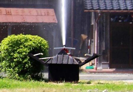 03.放水銃を使用する時の写真