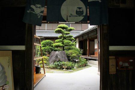 05.休憩処『育』門の前の写真