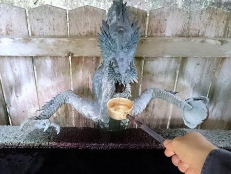 16.御手水の水の写真