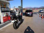 10.蒜山高原SAで給油時の写真
