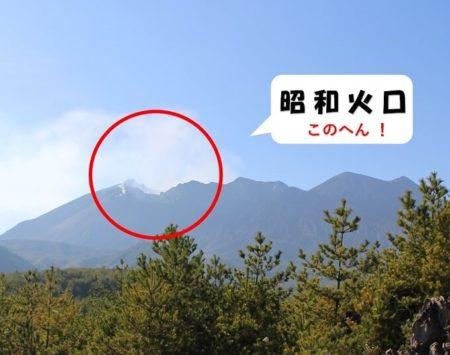 17.展望台から見える昭和火口の写真