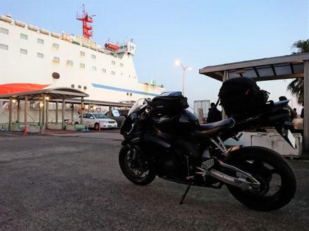 23.志布志港に到着したところの写真