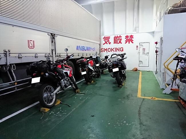 05.本日の乗船バイクの写真