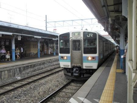 12.松本行き電車の写真