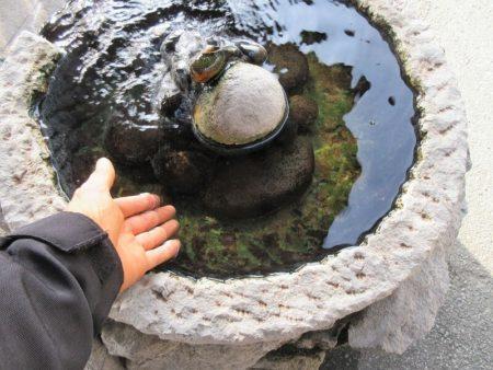 温泉が出ている所の写真