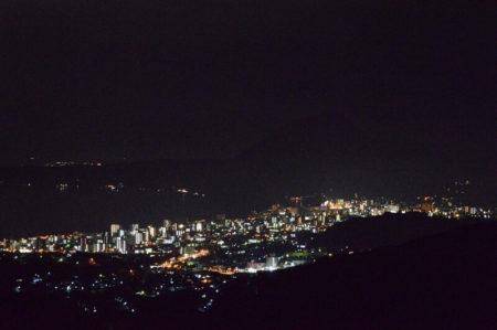 十文字原展望台からの夜景の写真(2)