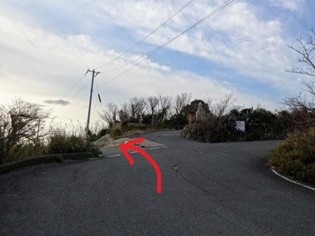 灯台へ向かっている所の写真