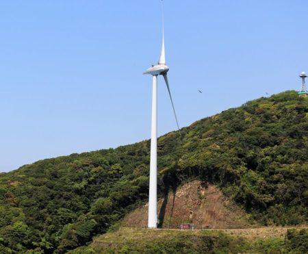 折れる前の風車の写真