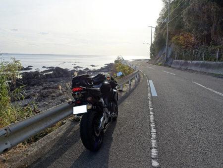 日の岬へ向かっている所の写真