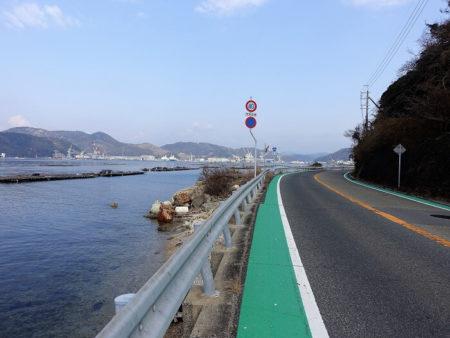 海沿い快適道の写真