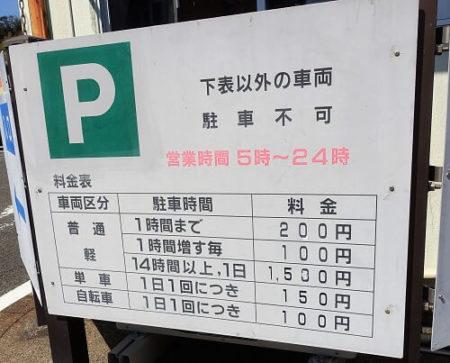 駐車料金の写真
