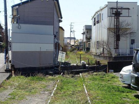 西御坊駅から続く廃線跡の写真