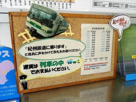 紀州鉄道の情報掲示の写真