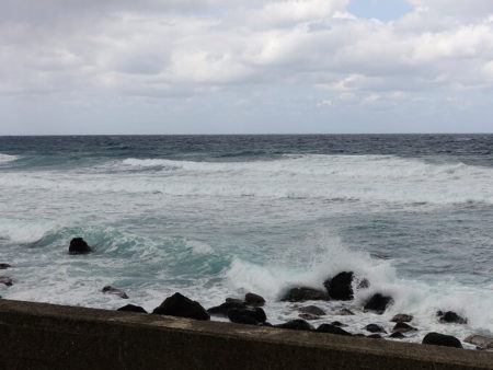 波が荒い写真