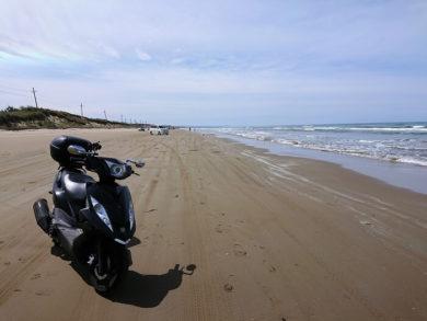 千里浜なぎさドライブウェイとGTRの写真