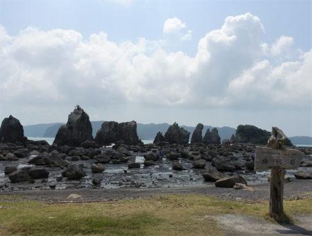 """天然記念物にも指定されている""""橋杭岩""""の写真"""