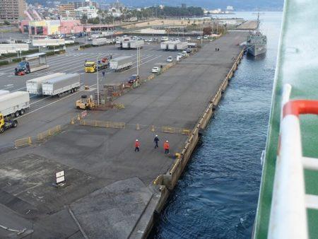 別府港に着岸する写真