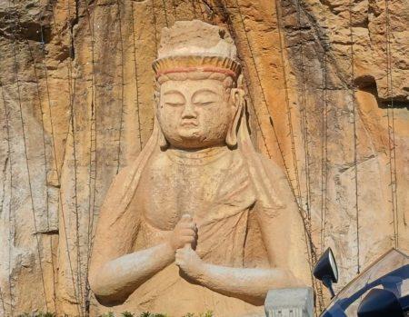 臼杵石仏レプリカ(ドアップ)の写真