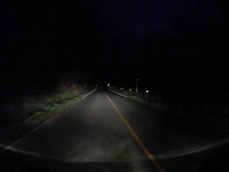 阿蘇の真っ暗な山の中の写真