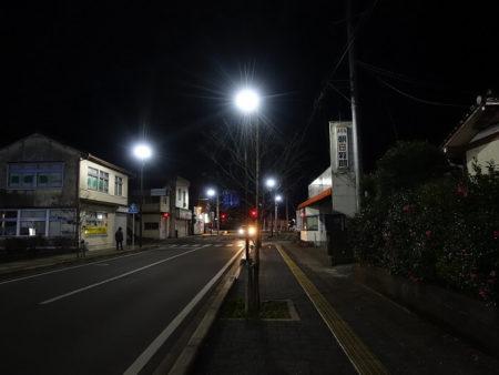 夜の多良木の街の写真