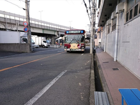 野中バス停前の写真