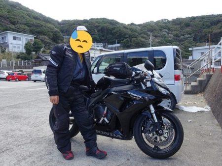 宮崎の鼻を回って来て女の蒲の駐車場へ帰って来た所の写真