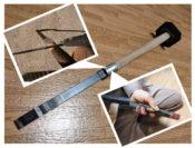 スクレーパーの柄の修理を一目で分かる写真