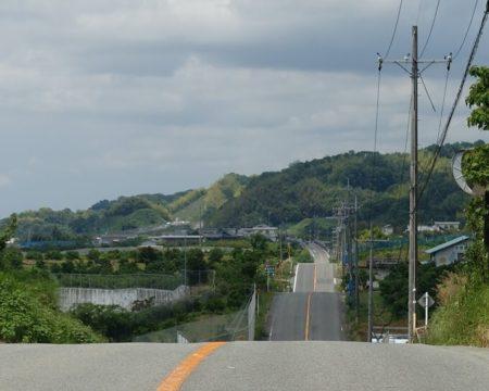 ジェットコースターの路の写真(連続する丘バージョン)