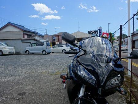 ヤマキにお昼時に到着したCBRの写真