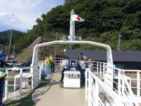 伊根湾の遊覧船の乗船した時の写真