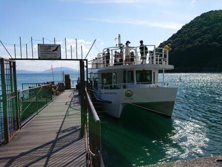 伊根湾遊覧船に乗り込む前の写真
