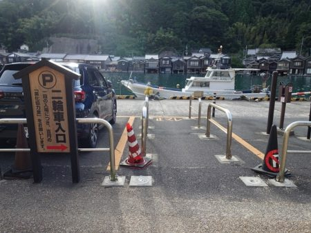 七面山駐車場バイク用入口の写真